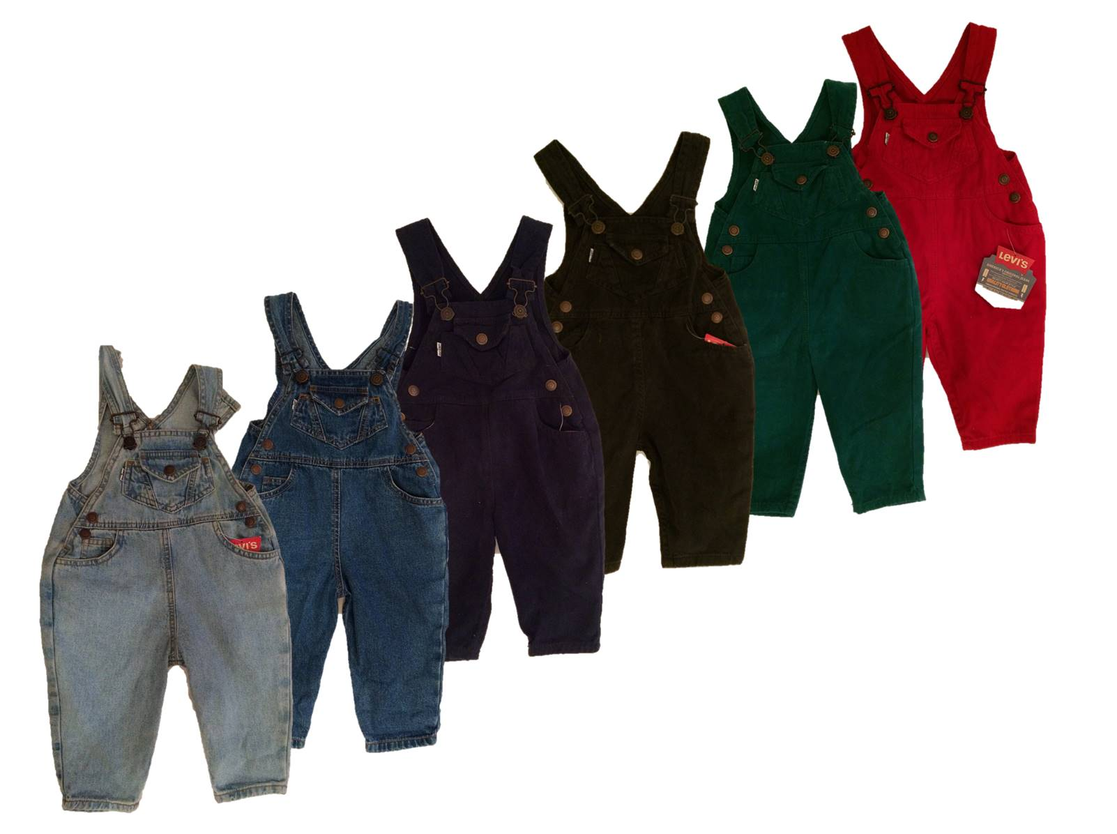 Boys Levis Dungarees- River Green