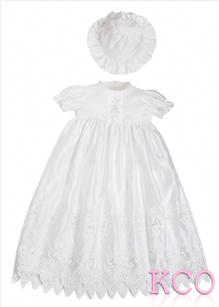 Cathedral Christening Gown White