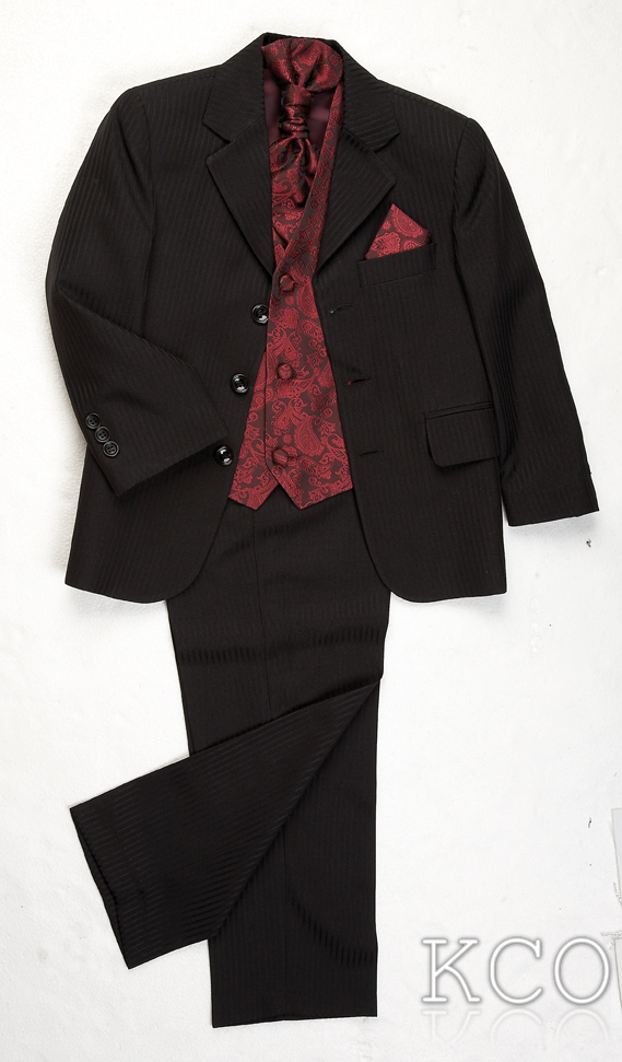 Lawrence Black/Burgundy~ Boys Suits
