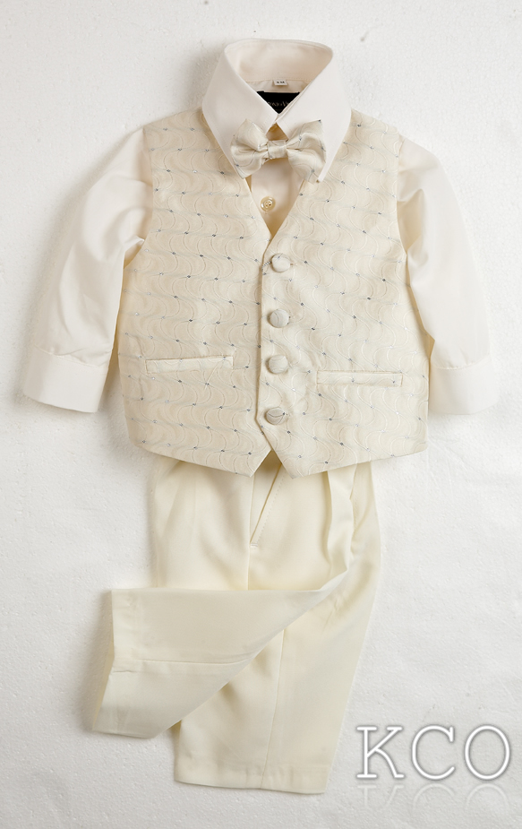 Milan Classic Ivory Shirt/Ivory Trousers~ Boys Suits