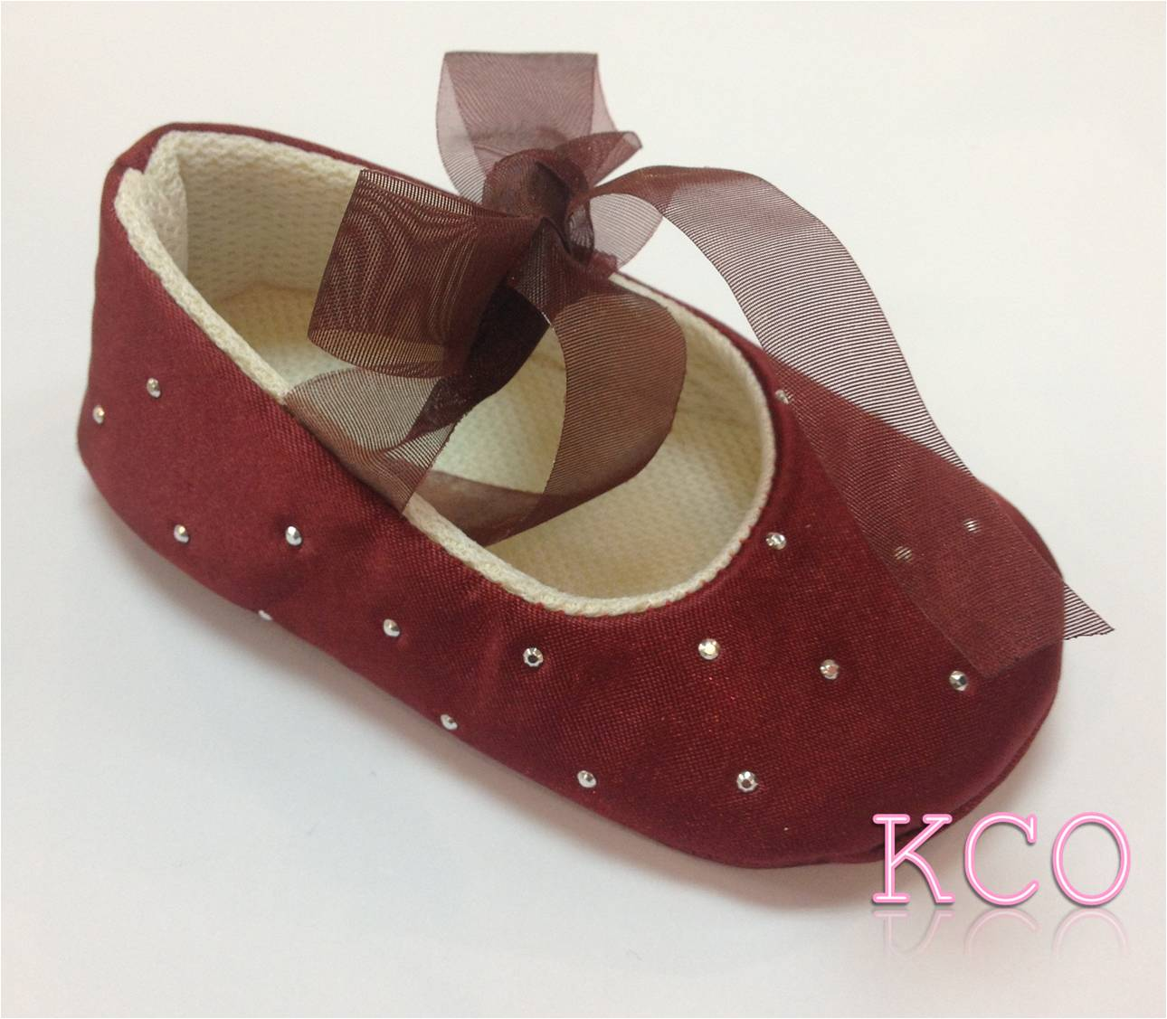 Style Fjs Burgundy Girls Shoes