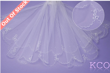 V032 White Communion Veil