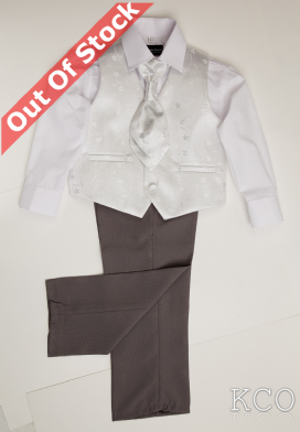 Verona Grey/Silver~ Boys Suits