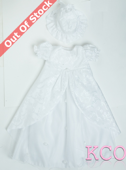 5 Layer Christening Gown White