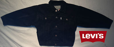 Boys Levis Jacket -Texas Denim Black 100% Authentic, New With Tags.