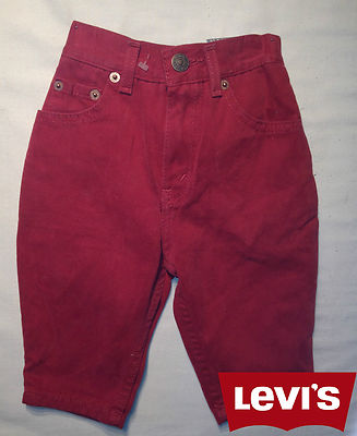 Boys Levis Jeans -Oreg Maroon 100% Authentic, New With Tags