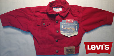 Boys Red Levis Jacket - Tennesee Denim 100% Authentic, New With Tags, Christmas