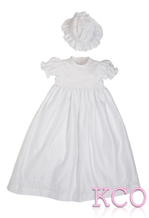 Braid Christening Gown white