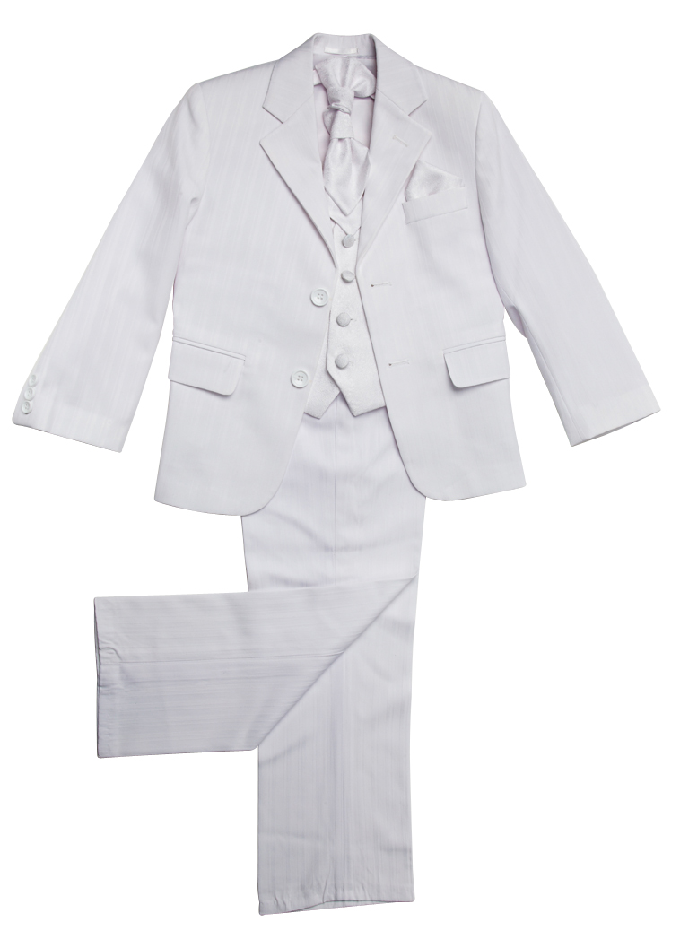Brampton White/White~ Boys Suits