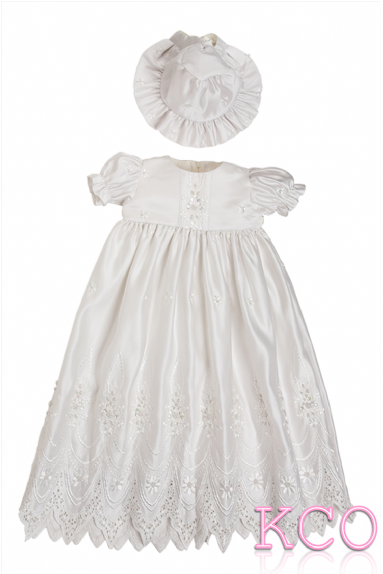 Cathedral Christening Gown Ivory