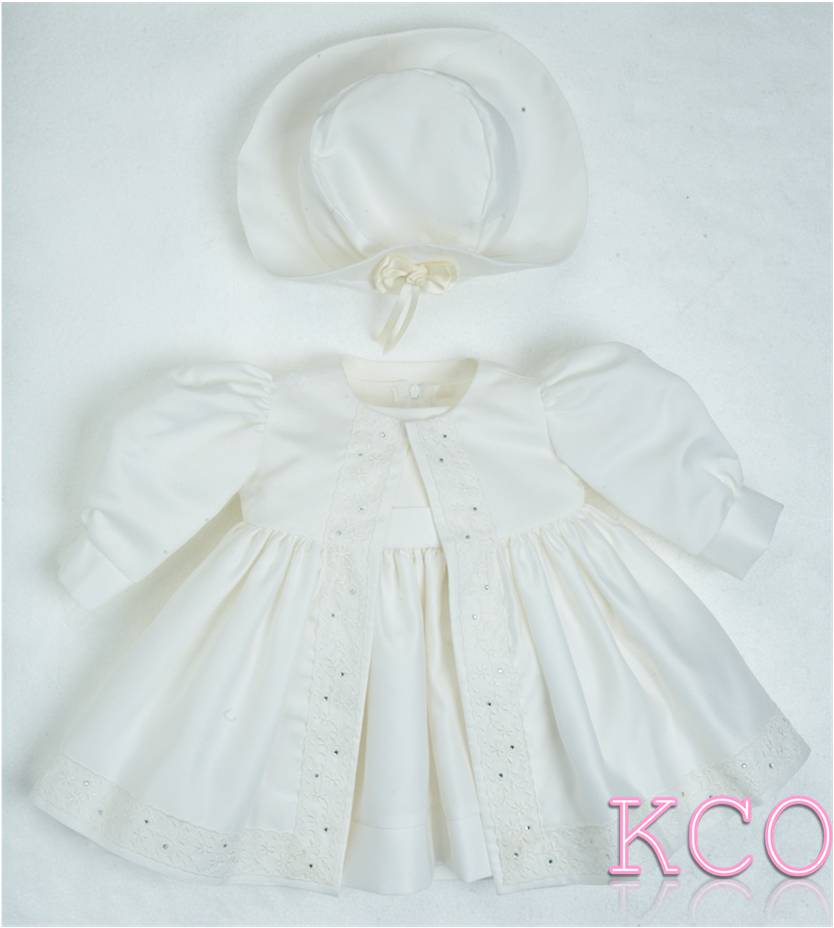 Diamante Coat & Dress Ivory ~ Girls Dress