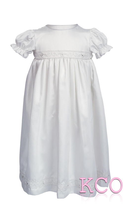 Dupion Gown White