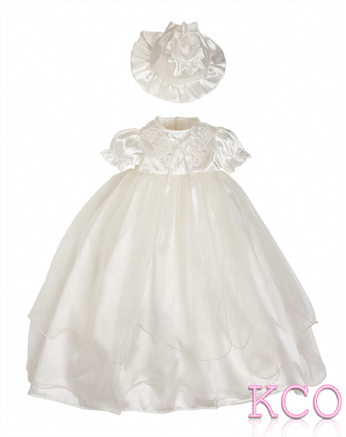 Net Christening Gown Ivory