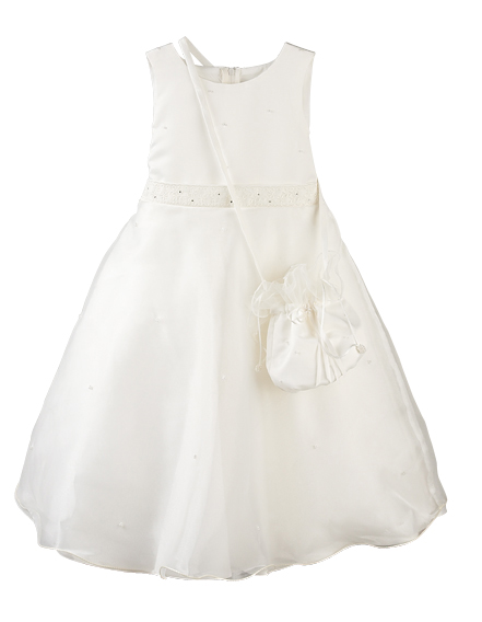 Purse & Dress Ivory ~ Girls Dress