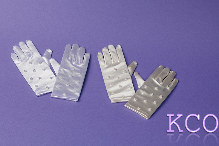 Short Beaded Gloves White~ Special Occasion