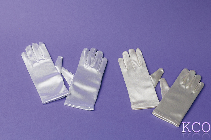 Short Satin Gloves Ivory~ Special Occasion