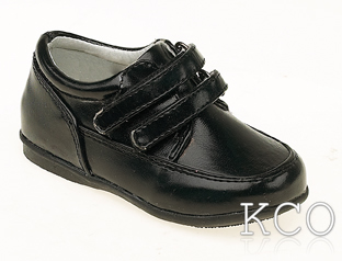 Style 171-11 Black~Boys Black Shoes