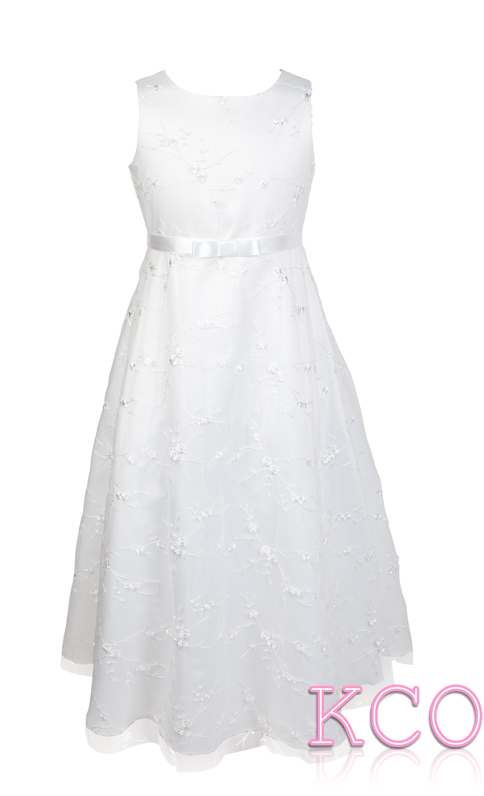 Style D3251 White~ Girls Communion Dress