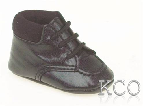 Style FJS009 Black~Boys Black Shoes
